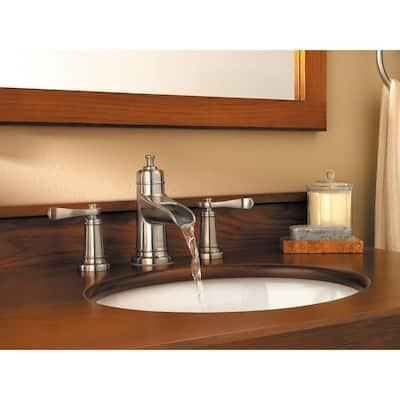 Ashfield 8 in. Widespread 2-Handle Bathroom Faucet in Brushed Nickel