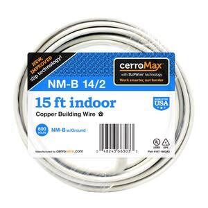 15 ft. 14/2 White Solid CerroMax SLiPWire CU NM-B Wire