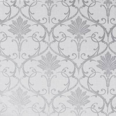 Divine Damask Grey Peel and Stick Non-Woven paper Wallpaper