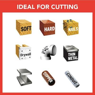 Universal Dual Interface 2 3/4 in. Bi-Metal Oscillating Tool Cutting Blade