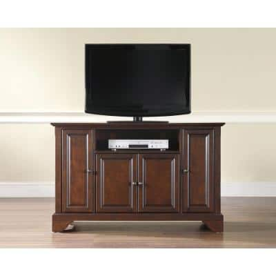 LaFayette 48 in. Mahogany Wood TV Stand Fits TVs Up to 50 in. with Storage Doors