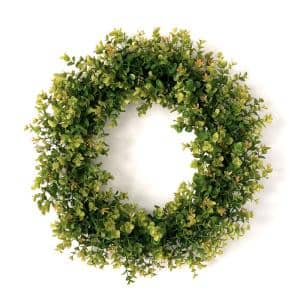 21 in. Artificial New England Boxwood Wreath