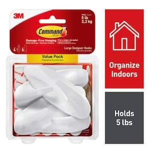 4.125 in. Large White Designer Hooks Value Pack