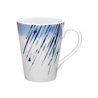 Hanabi Blue/White Porcelain Mug 12 oz.