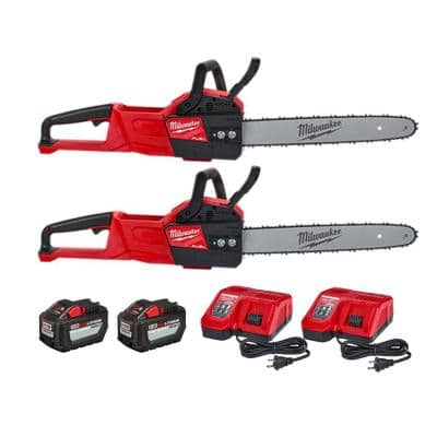 M18 FUEL 16 in. 18-Volt Lithium-Ion Battery Brushless Cordless Chainsaw Kit w/12.0Ah Battery and Rapid Charger(2-Tool)