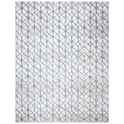Amelia Gray/Blue 8 ft. x 10 ft. Geometric Area Rug
