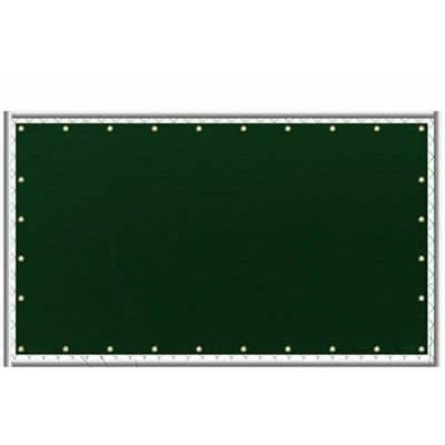 6 ft. x 50 ft. Green Privacy Fence Screen Netting Mesh with Reinforced Grommet for Chain Link Garden Fence (2-Pack)