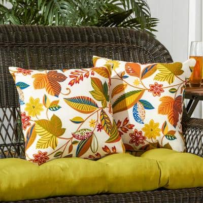 Esprit Floral Square Outdoor Throw Pillow (2-Pack)