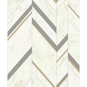 York Wallcoverings Ashford Geometrics Gradient Chevron Strippable Roll Wallpaper Covers 60 75 Sq Ft Ge3601 The Home Depot
