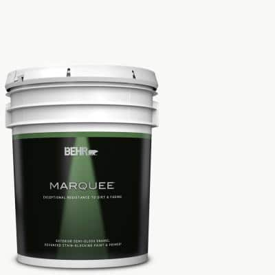 5 gal. Ultra Pure White Semi-Gloss Enamel Exterior Paint & Primer