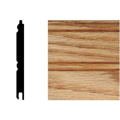 5/16 in. x 3-1/8 in. x 32 in. Oak Tongue and Groove Wainscot (6-Piece)