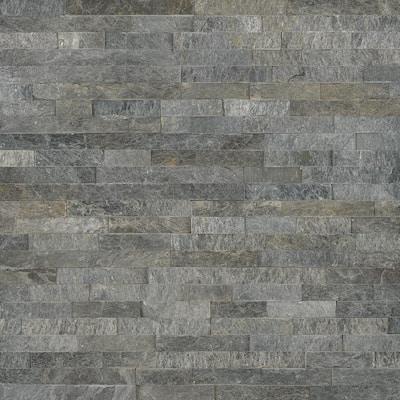 Salvador Platinum Ledger Panel 6 in. x 24 in. Natural Quartzite Wall Tile (24 cases / 192 sq. ft. / pallet)