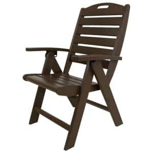 Yacht Club Vintage Lantern Highback Patio Folding Chair