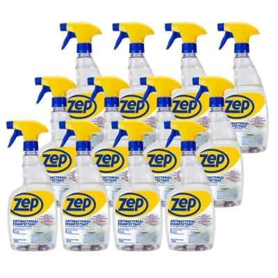 32 oz. Antibacterial Disinfectant Cleaner with Lemon Odor Neutralizer (Case of 12)