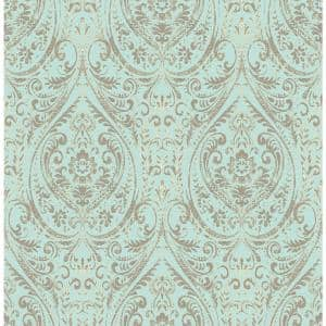 Nomad Damask Blue Wallpaper Sample