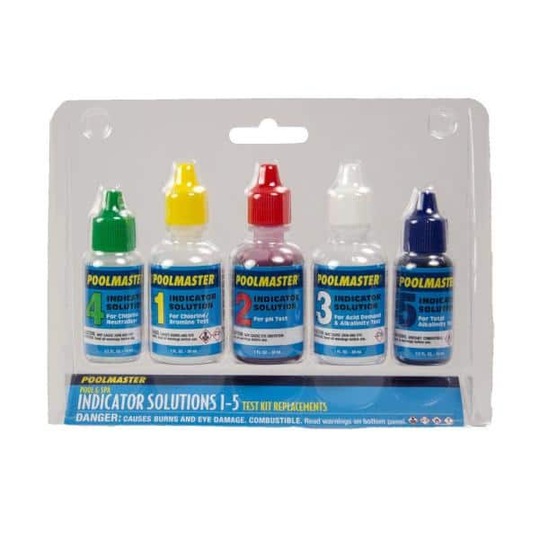 Poolmaster Solutions 1 5 Replacement Water Test Kit For Swimmning Pool And Spa 23227 The Home Depot