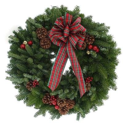 20 in. Balsam Fir Highland Fresh Wreath : Multiple Ship Weeks Available