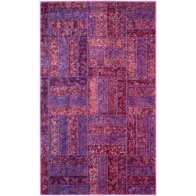 Monaco Purple/Multi 3 ft. x 5 ft. Area Rug