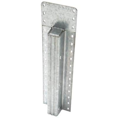 7 ft. 6 in. Galvanized Post with Clear Powdercoat (with Top Plate)