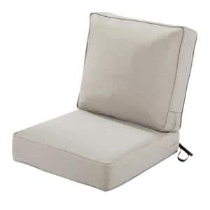 25 in. W x 25 in. D x 5 in. T (Seat) 25 in. W x 22 in. H x 4 in. T (Back) Outdoor Lounge Cushion Set in Heather Grey