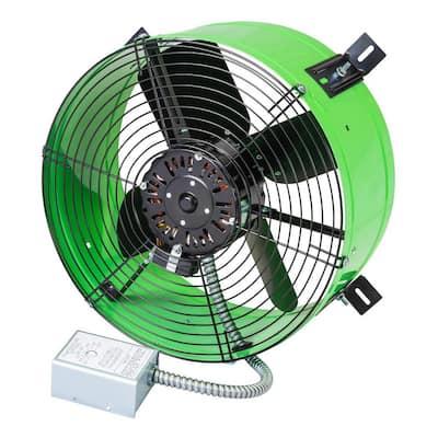 Premium 1,650 CFM Green Electric Gable Mount Power Attic Fan