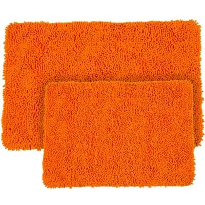 Orange Bath Mats Bedding Bath The Home Depot