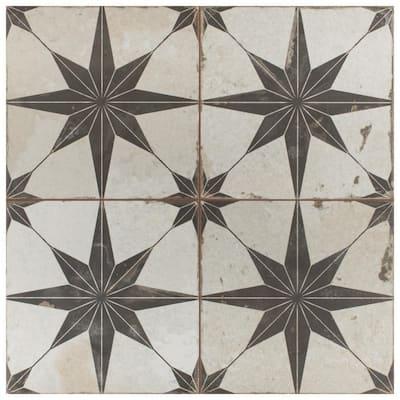 Take Home Tile Sample - Kings Star Nero 9 in x 9 Ceramic