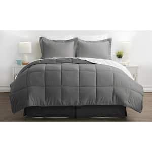 Performance 6-Piece Gray Twin XL Comforter Set
