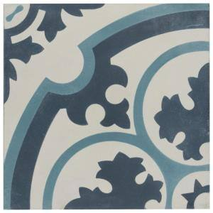 Cemento Queen Mary Sky Encaustic 8 in. x 8 in. Cement Handmade Floor and Wall Tile (5.51 sq. ft. / Case)