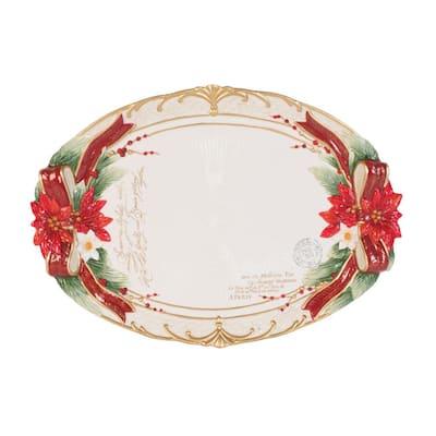 13 in. Cardinal Christmas Serving Platter