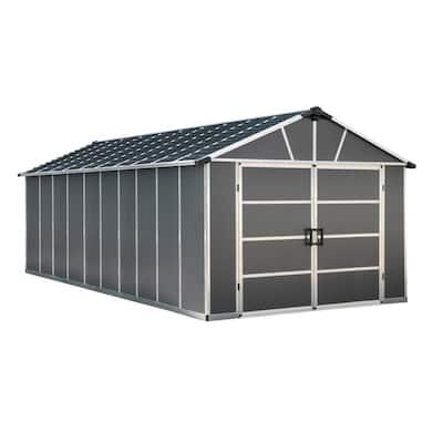Yukon 11 ft. W x 21.3 ft. D x 8.3 ft. H Dark Gray Garage Shed