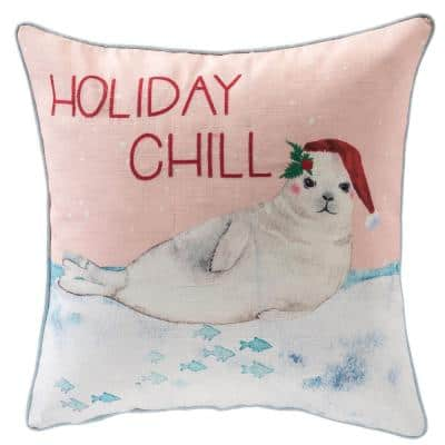18 in. Holiday Chill Square Pillow