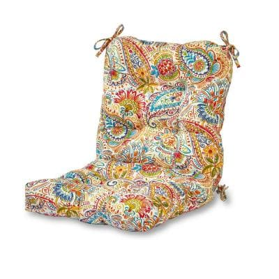 Jamboree Paisley Outdoor Dining Chair Cushion
