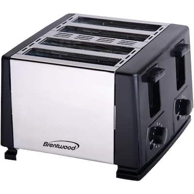 4-Slice Black Toaster