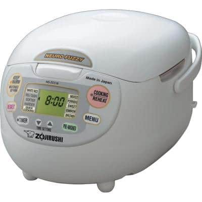 Neuro Fuzzy 10-Cup Premium White Rice Cooker with Built-In Timer