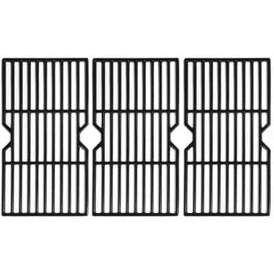 16-7/8 in. Polished Porcelain Coated Cast Iron Grill Grates (Set of 3)