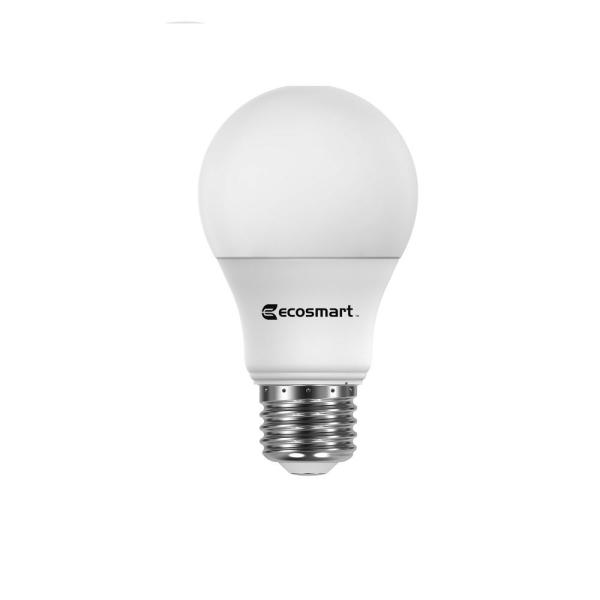 Ecosmart 60 Watt Equivalent Wi Fi And Bluetooth A19 Smart Hubspace Led Light Bulb Tunable White 1 Bulb A10a1960wq1z01 The Home Depot
