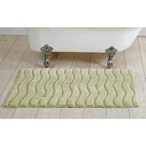Indulgence Collection Sage 100% Ring Spun Cotton Tufted 27 in. x 45 in. Bath Rug
