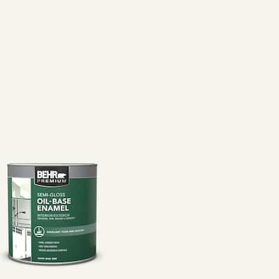 1 qt. White Oil-Base Semi-Gloss Enamel Interior/Exterior Paint