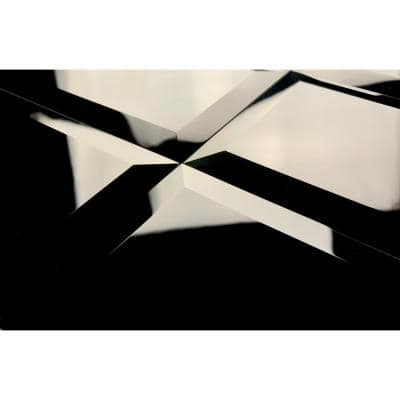 Frosted Elegance Glossy Black Beveled Subway 3 in. x 6 in. Glass Peel & Stick Wall Tile (11 Sq.Ft/Case)