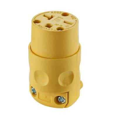 20 Amp 250-Volt Grounding Connector, Yellow