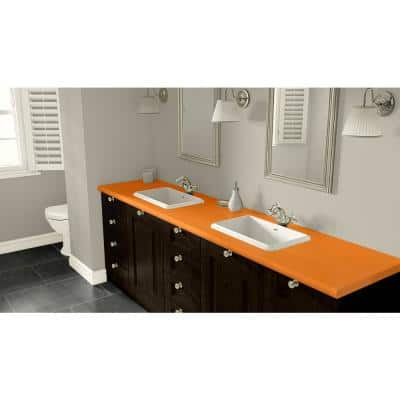 4 ft. x 8 ft. Laminate Sheet in Orange Grove with Matte Finish