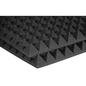 Studiofoam Pyramid Panels - 2 ft. W x 2 ft. L x 2 in. H - Charcoal (Half-Pack: 12 Panels per Box)