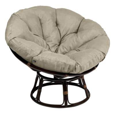 Montlake 52 in. Dia Heather Grey Water-Resistant Outdoor Papasan Cushion