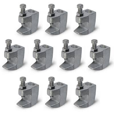 Junior Beam Clamp for 3/8 in. Threaded Rod in Electro Galvanized Steel (10-Pack)