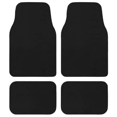 Premium Black Car Floor Mats Universal Fit for Cars, SUVs, Vans and Trucks (4-Piece)