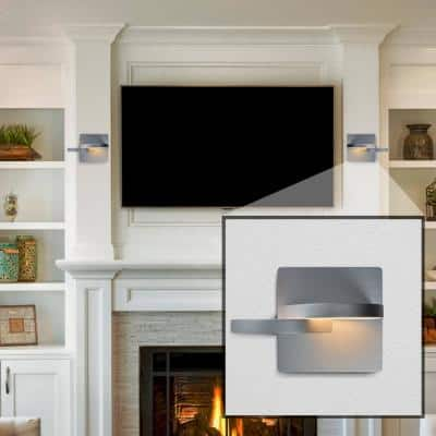 Eclipse 11-Watt Silver Integrated LED Sconce