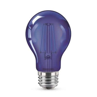60-Watt Equivalent A19 Non-Dimmable Autism Speaks Blue LED Colored Glass Light Bulb (1-Bulb)