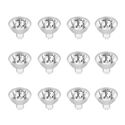 50-Watt MR16 GU5.3 Bi-Pin Dimmable 12-Volt Halogen Light Bulb, Bright White (12-Pack)