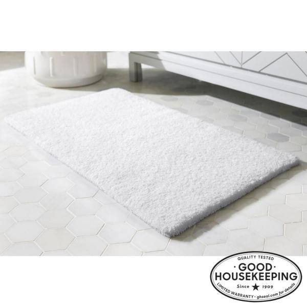 Home Decorators Collection White 21 In X 34 In Cotton Reversible Bath Rug Hmt442 White The Home Depot